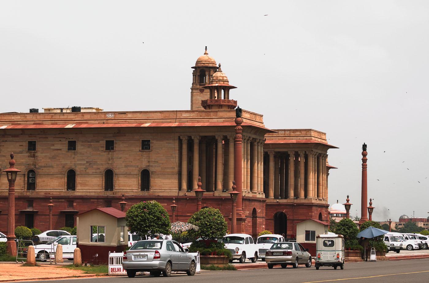 Фотография 6. Министерские здания на улице Раджпатх в Дели. Туры в Индию из Москвы.