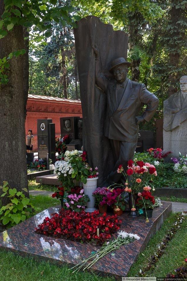 Могила Бориса Брунова на Новодевичьем кладбище