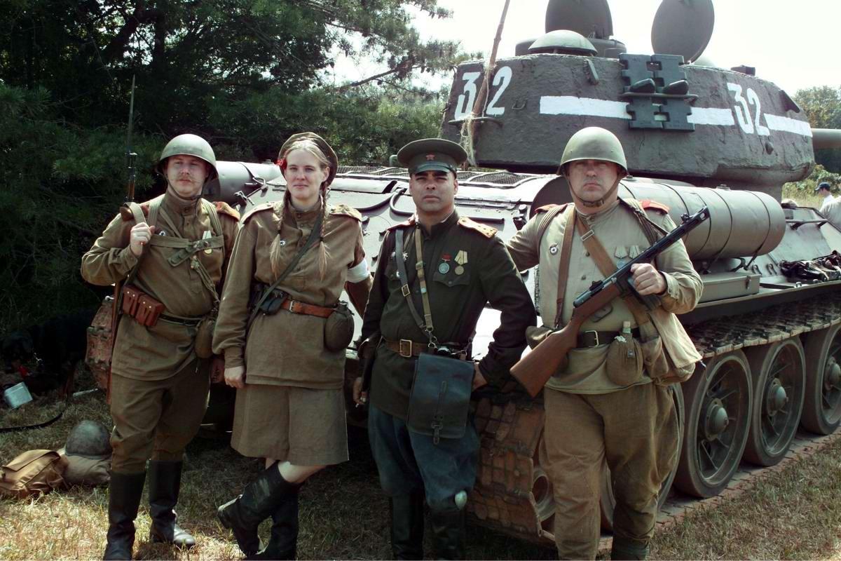 Солдаты Советской Армии в британских реконструкциях сражений 2-й мировой войны (38)
