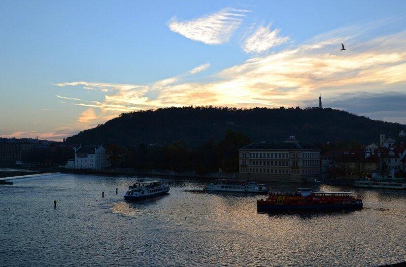 Закат над Влтавой