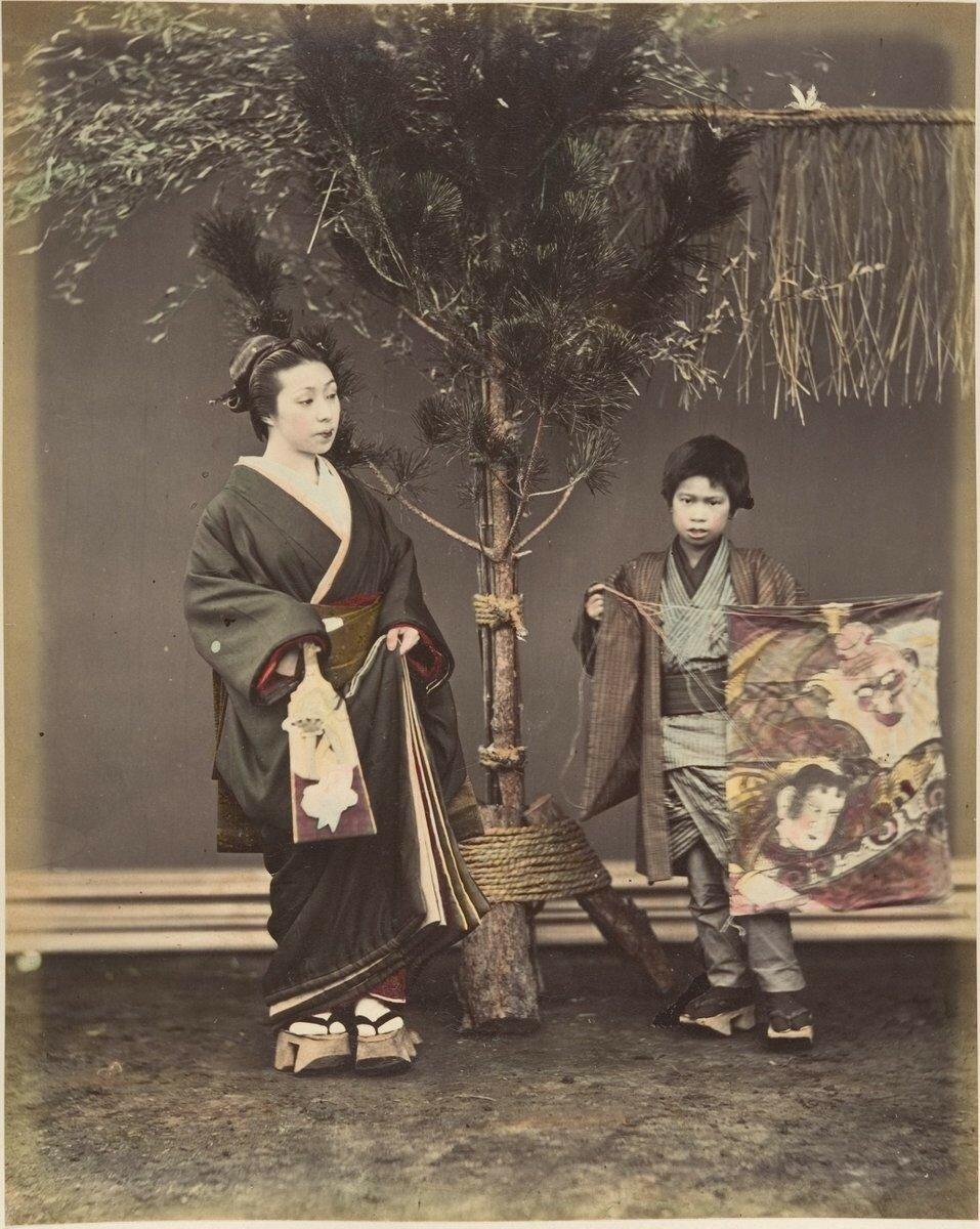 Японка с мальчиком