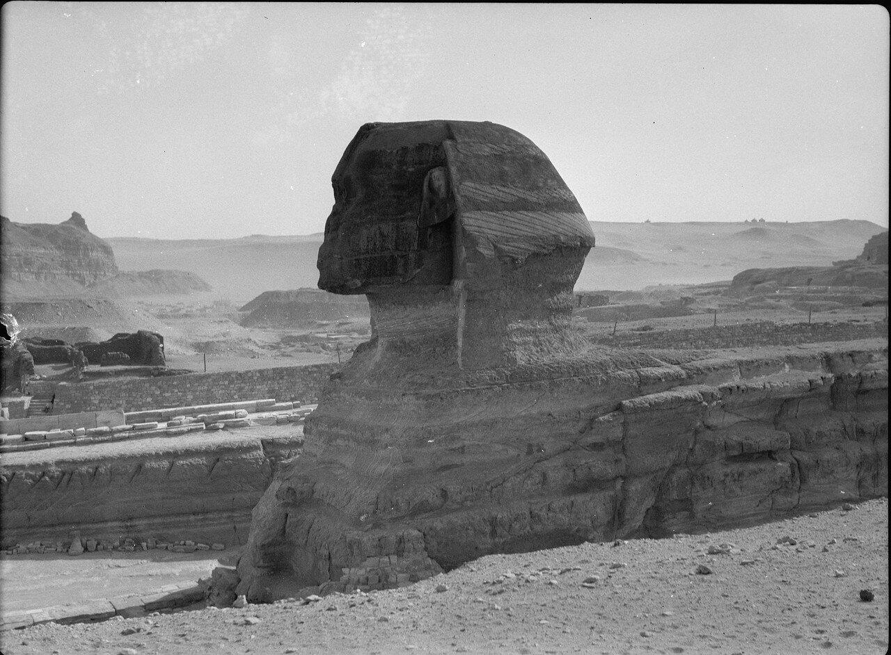 Гиза. Сфинкс и пирамиды. 1934