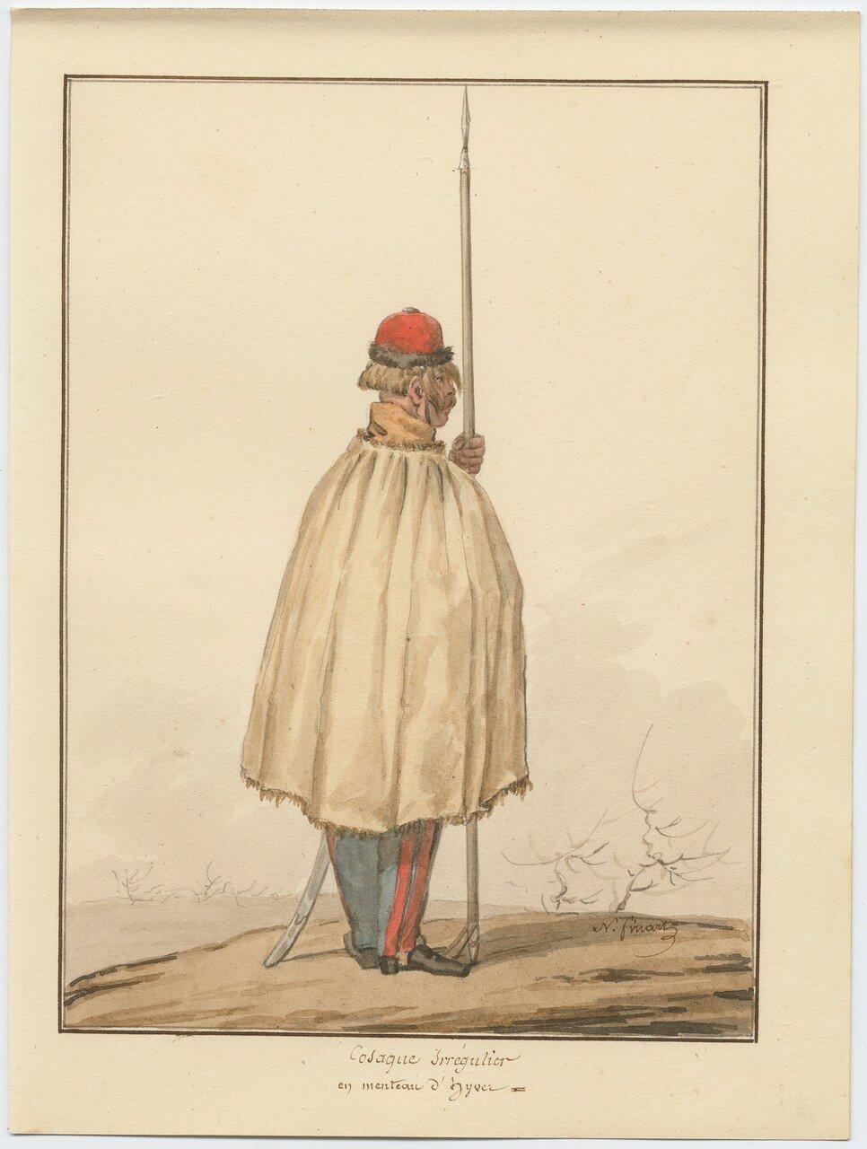 Казак иррегулярного полка в зимнем плаще 1815