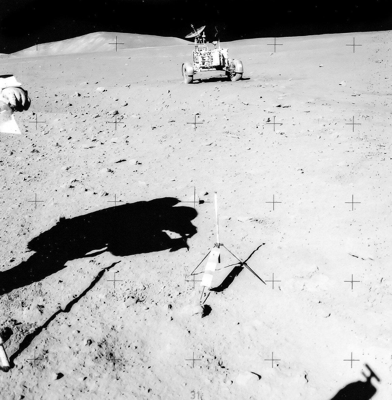 Вскоре астронавты начали взбираться по боковому склону горы Хэдли Дельта. Теперь уже они отчётливо чувствовали, что едут вверх