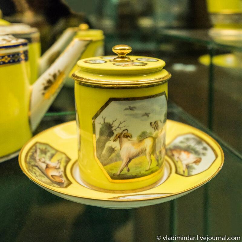 Чашка с крышкой с английскими парковыми видами. Англия. Дербишир. Дерби.