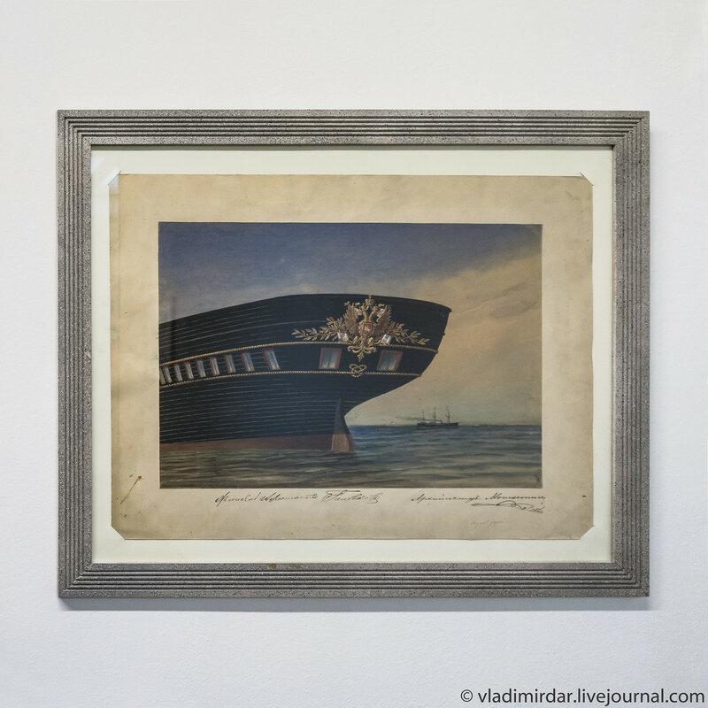 Рисунок кормового украшения для яхты «Держава». Ипполит Монигетти.