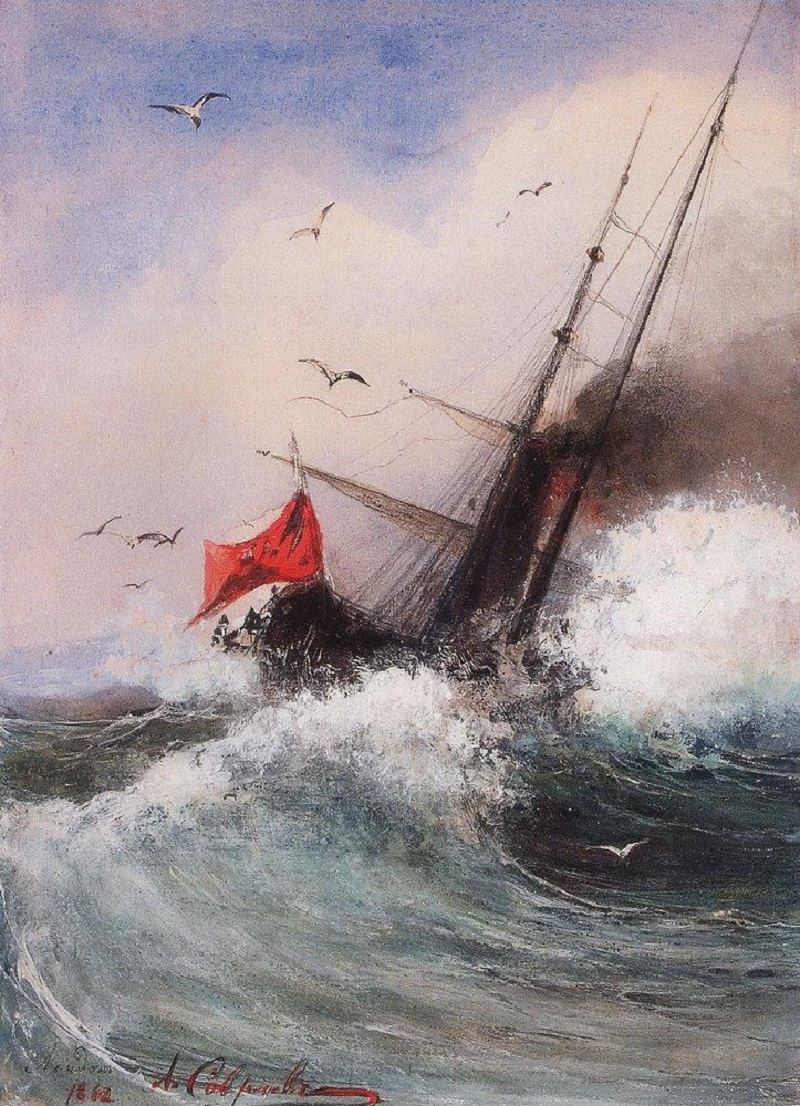 Гибель корабля в море. 1862.jpg