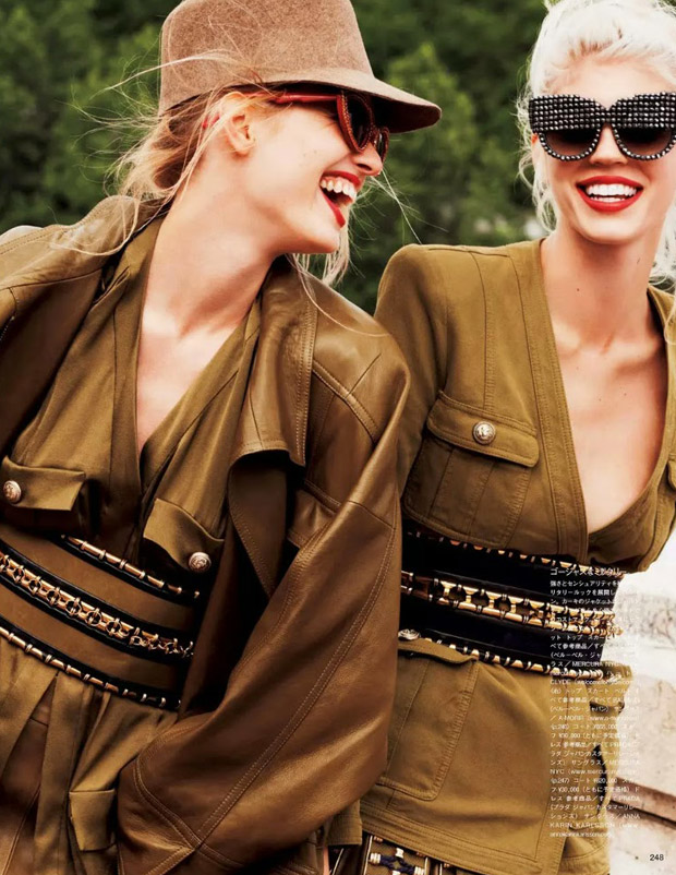 Девон Виндзор (Devon Windsor) и Наталья Сиодмак (Natalia Siodmiak) в журнале Vogue Japan (7 фото)
