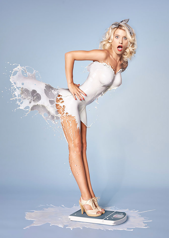 Молочные платья
