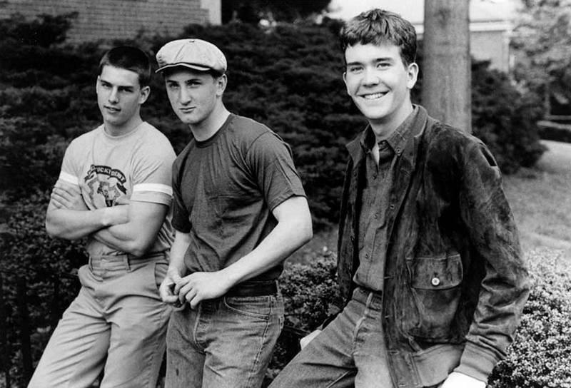 Том Круз, Шон Пенн и Тимоти Хаттон на съемках фильма