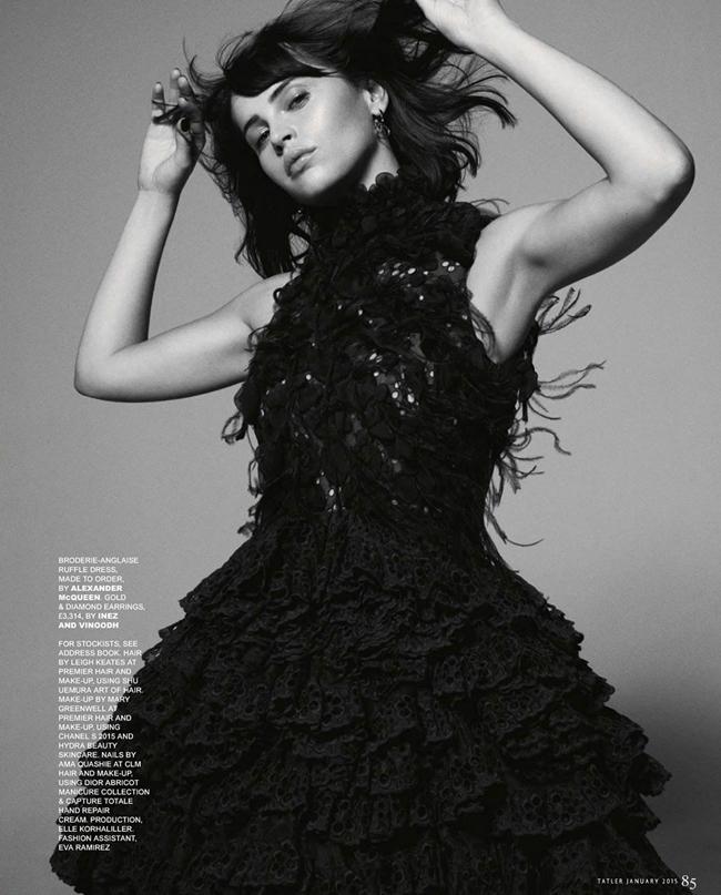 Фелисити Джонс в журнале Tatler (январь 2015)