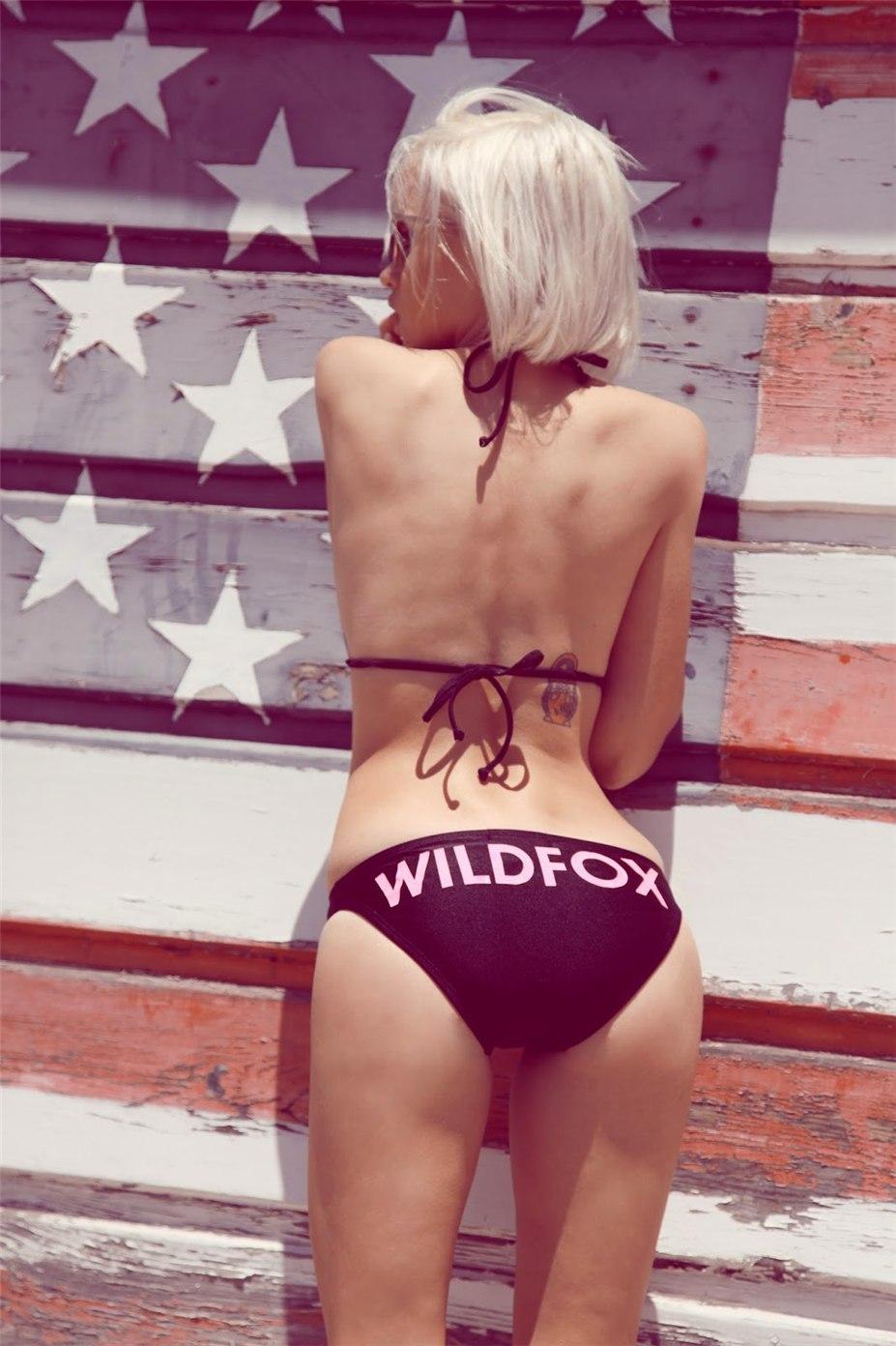 Anja Konstantinova / Аня Константинова в купальниках Wildfox Couture Swimwear 2014
