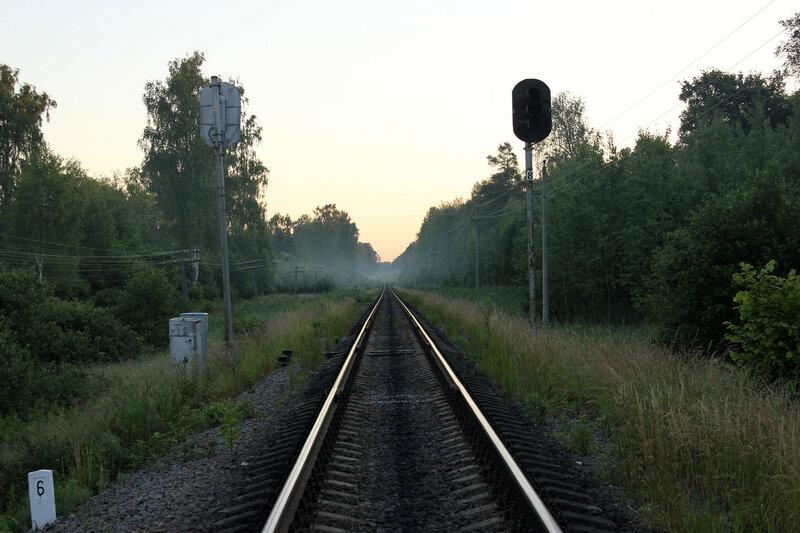 Проходнйо светофор 8, перегон Рождествено - Ржев-Балтийский
