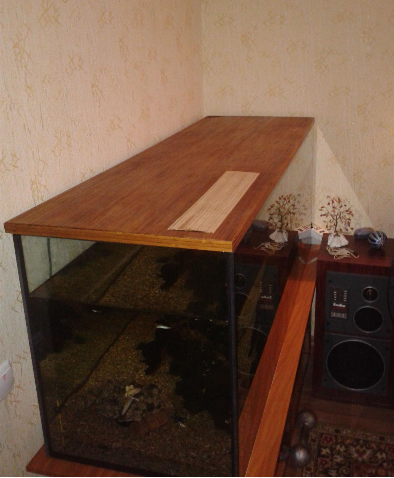 Первая примерка самодельной крышки из бамбука
