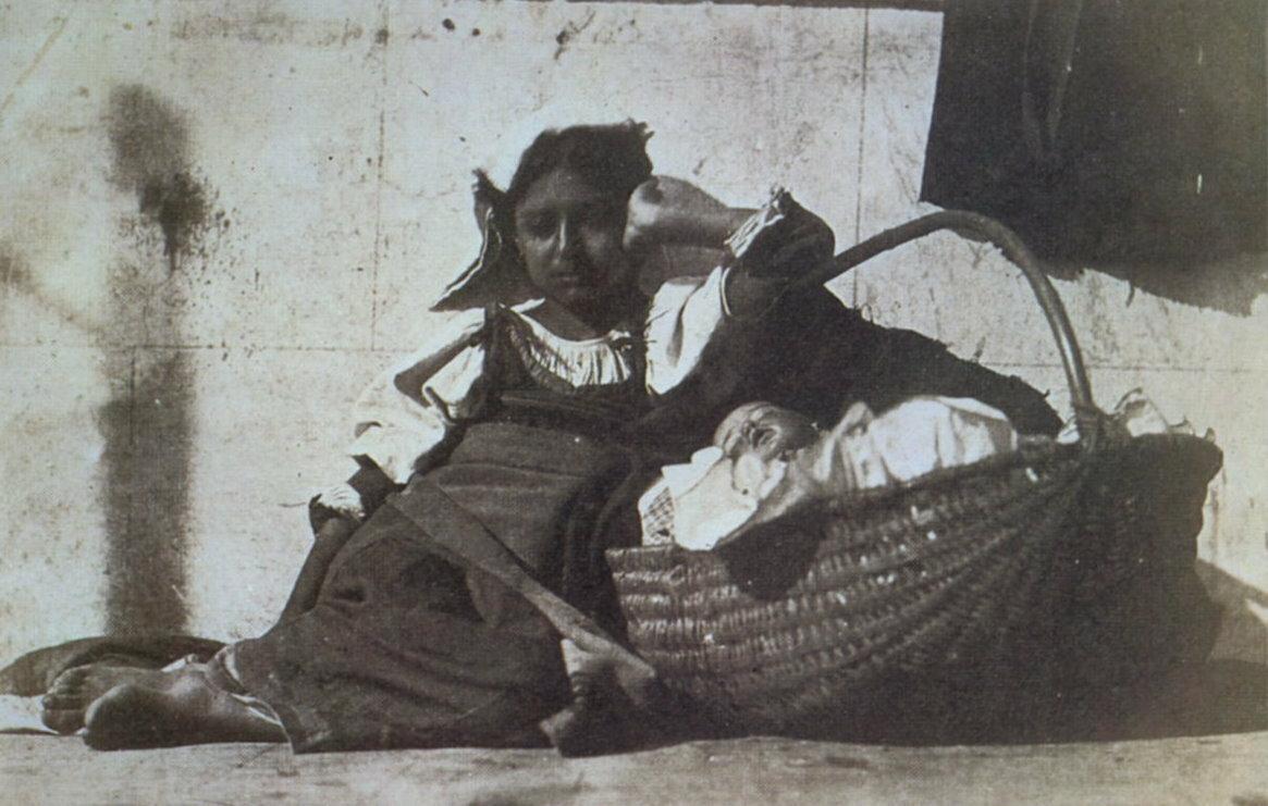 1850-1855. Джакомо Канева. Девочка с корзиной