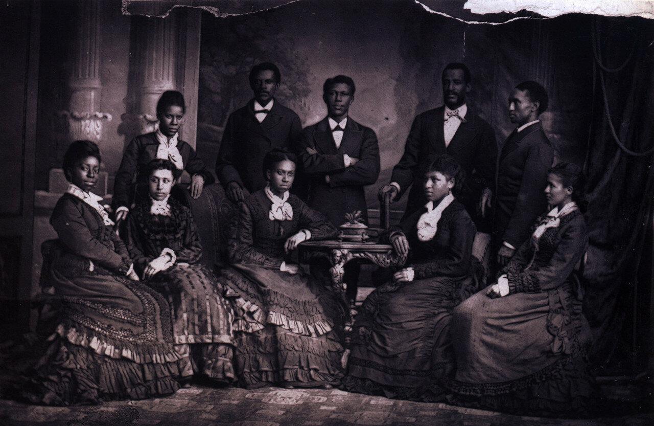 1872. Фиск Джубили Сингерс, негритянский ансамбль а капеллы, который состоит из студентов нэшвиллского университета Fisk University