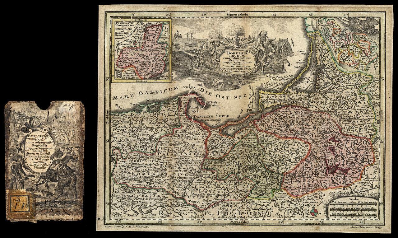 1700-е. Карта Пруссии, Польши и России