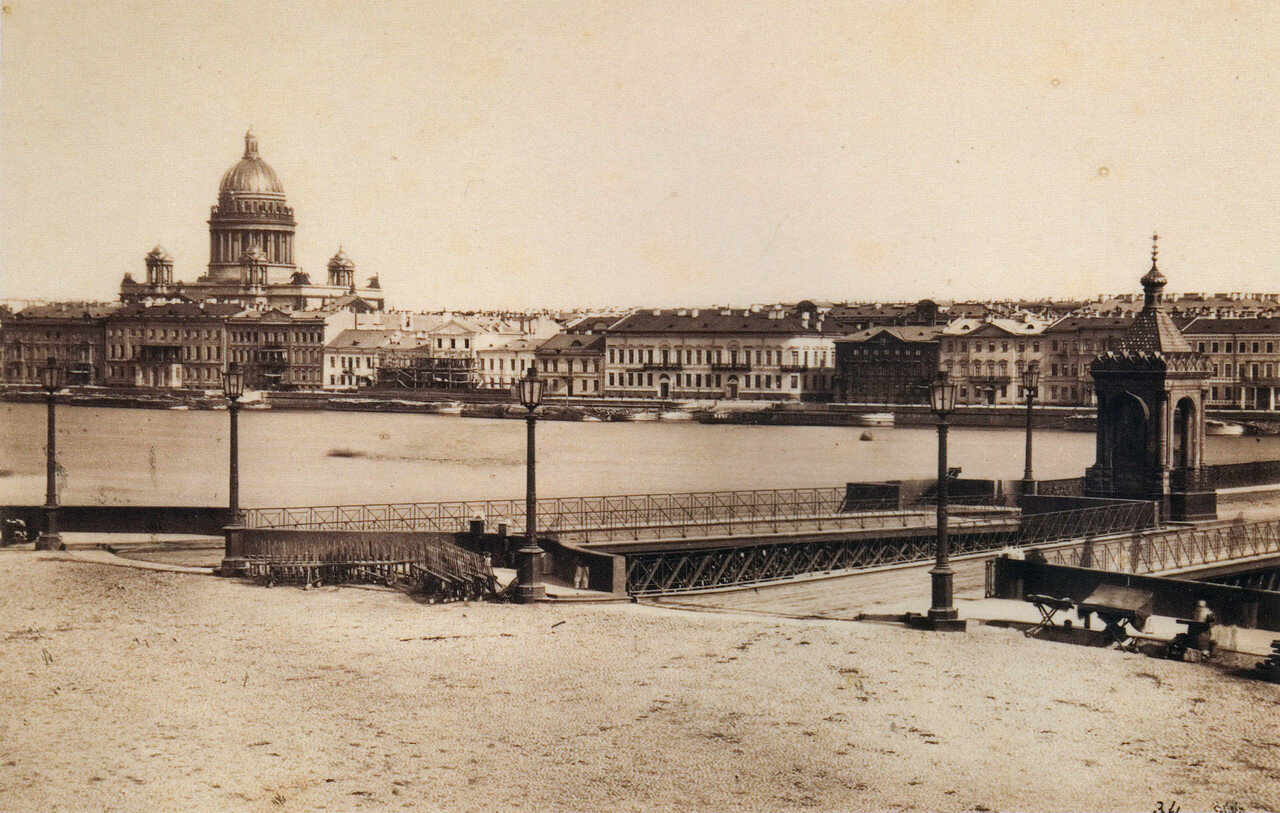 Английская набережная и Николаевский мост,1860-е