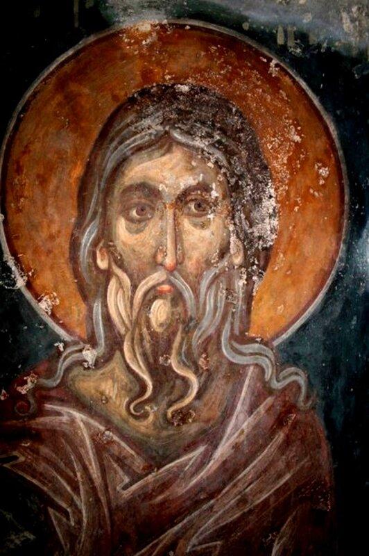 Святой. Фреска монастыря Зарзма, Грузия.