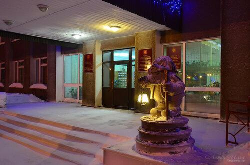 Фотография Инты №7423  Центральный вход в Горадминистрацию 18.01.2015_16:23