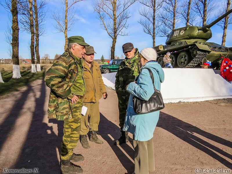 Памятник танку Т-34-85 на Невском пятачке.