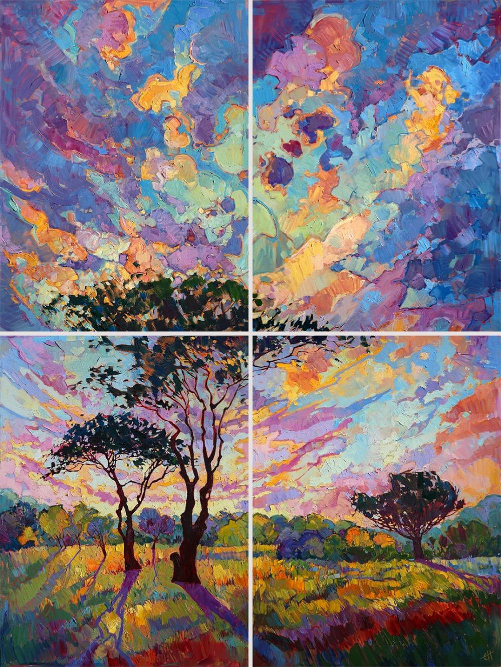 Абстрактные разноцветные пейзажи (8 фото)