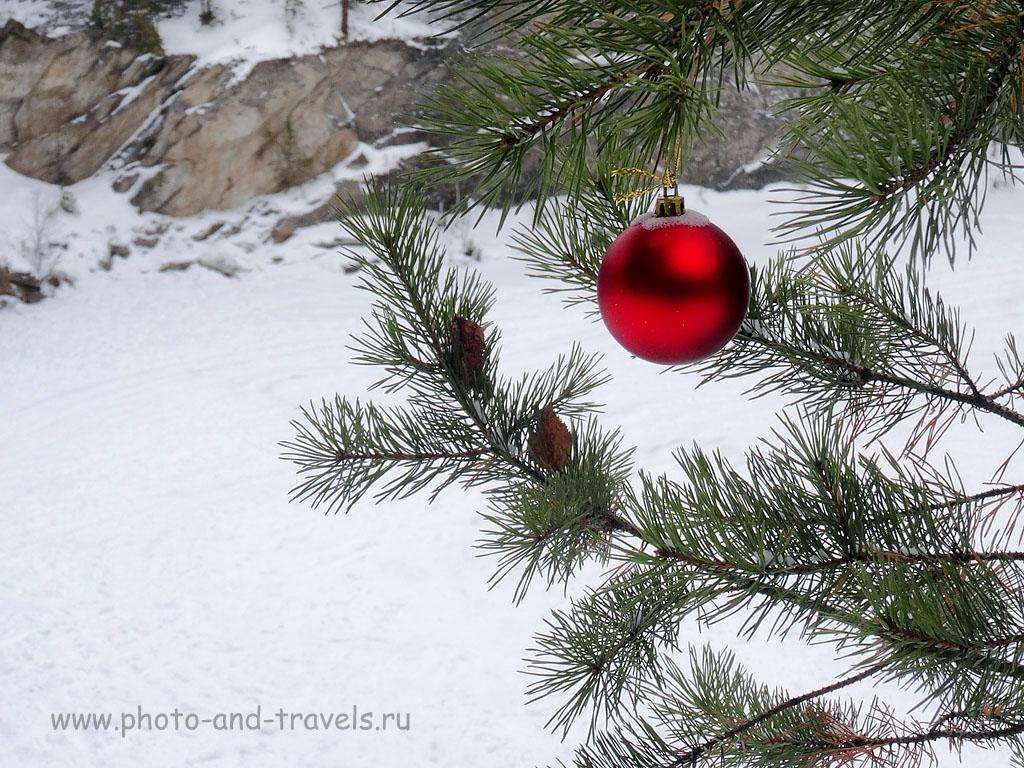 Фото 22-1. Дыхание Нового года на озере Тальков камень. (1/10 сек, 1 eV, приоритет диафрагмы, f/8, 20 мм (112), ИСО 100). Пример снимка с мыльницы Sony Cyber Shot