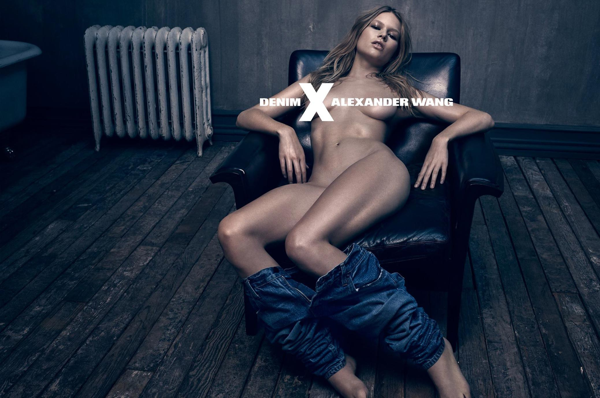 реклама джинсов и голая Анна Эверс / Anna Ewers by Steven Klein for Denim X Alexander Wang campaign