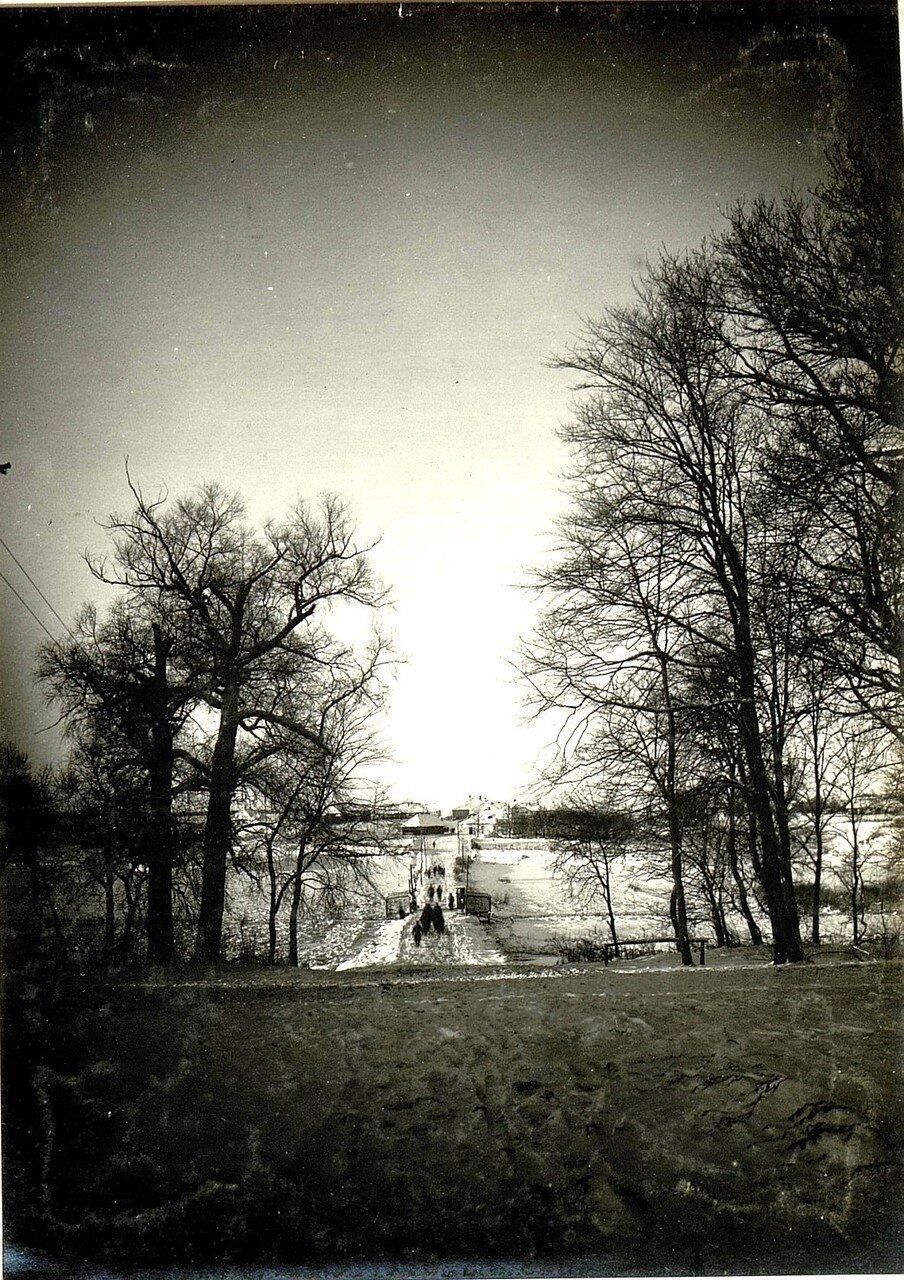 Острожец. Дорога на въезде в деревню. 28 ноября 1915