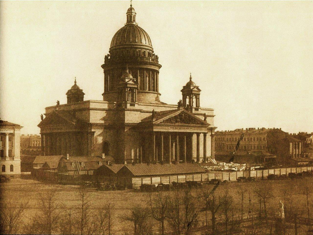 11. Исаакиевский собор от Адмиралтейства. 1853-1854