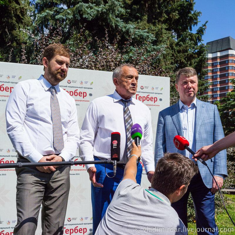 Глава Удмуртии Александр Соловьев на празднике Гербер в Москве