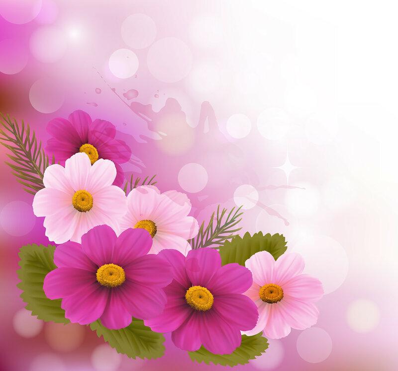 Красивые фотообои цветы