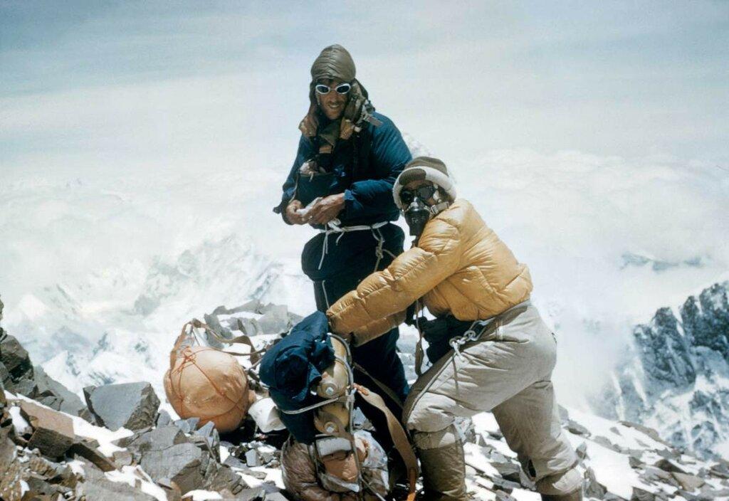 Sir Edmund Hillary and Tenzing Norgay, Everest; ca. 1953.jpg