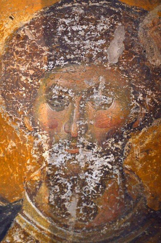 Святой Великомученик Феодор Стратилат. Фреска монастыря Хора в Константинополе. 1315 - 1321 годы.