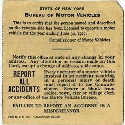 Эволюция водительских удостоверений США в 1910 2013 гг.