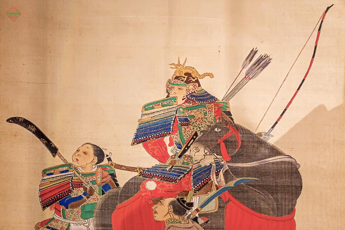 Минамото Ёсииэ Хатимантаро следит за полетом гусей