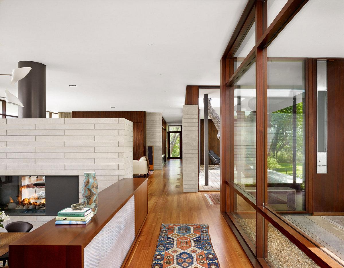Lake View Residence, частный дом в США, обзоры частных домов, план дома, схема дома, Alterstudio Architecture, терраса с бассейном, частный дом в США