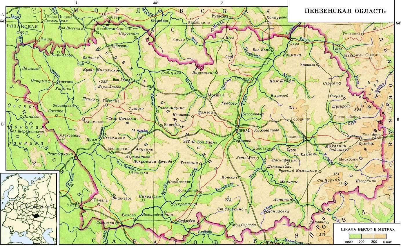 География Пензенской области