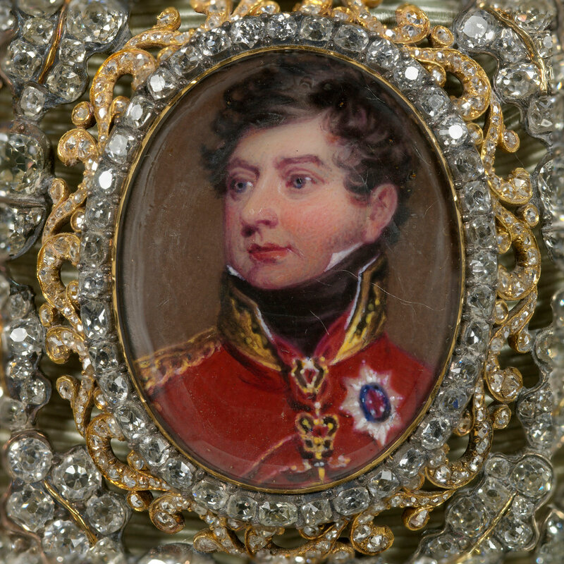 Family Order of King George IV. Badge. Originally belonged to Charlotte, Queen of Württemberg  c.1820-30