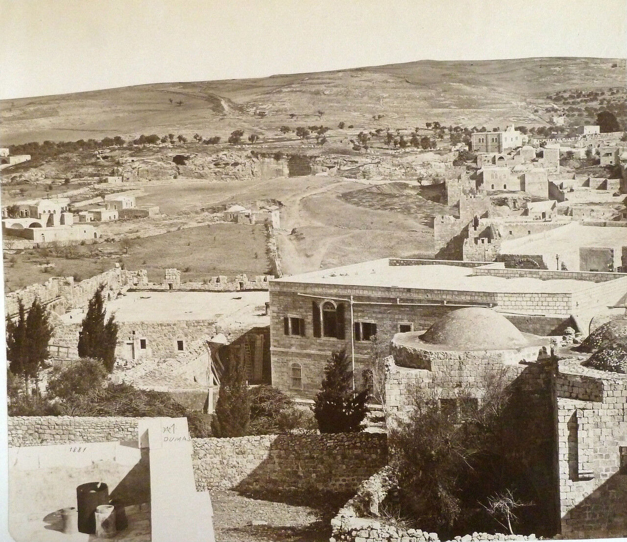 Вид на гору Елеонскую. 1881