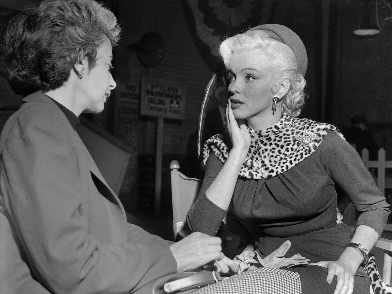 Marilyn Monroe with Her Drama Coach