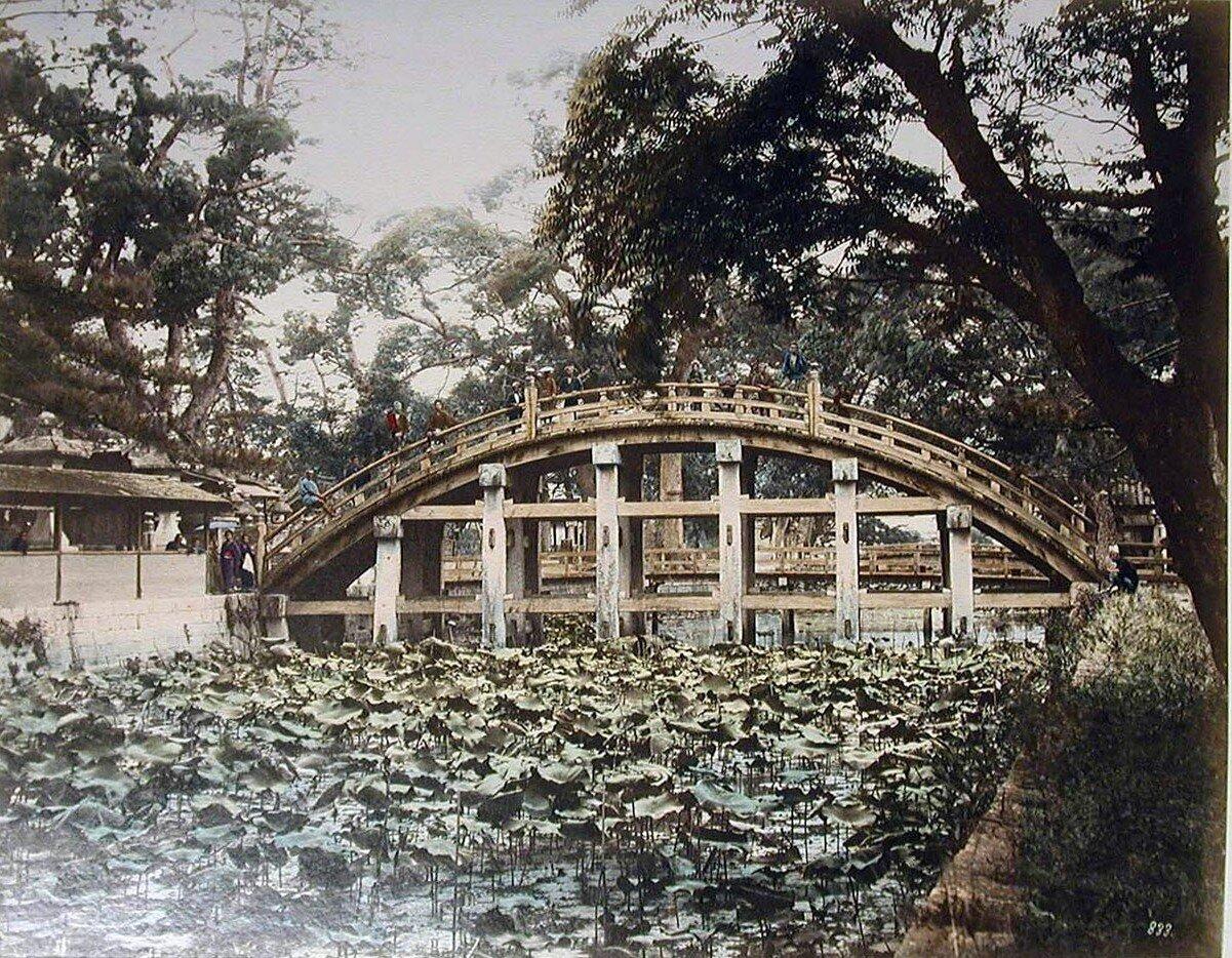 Осака. Вид моста Сумиёси