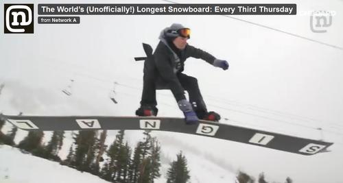 Самый длинный сноуборд
