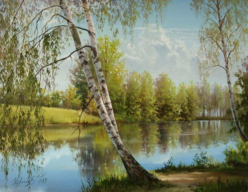 Белорусский художник Олег Чувашев. Нежные пейзажи и натюрморты 0 1110d7 81b7fb6b XL