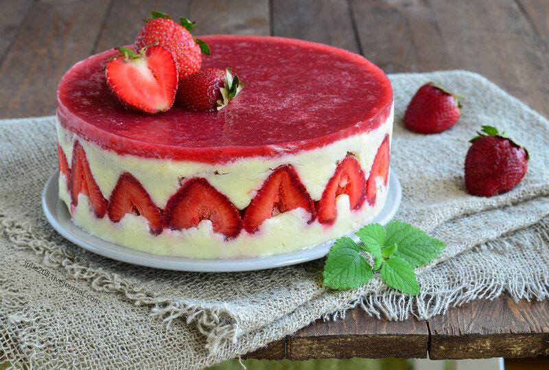 Французский торт десерт фрезье