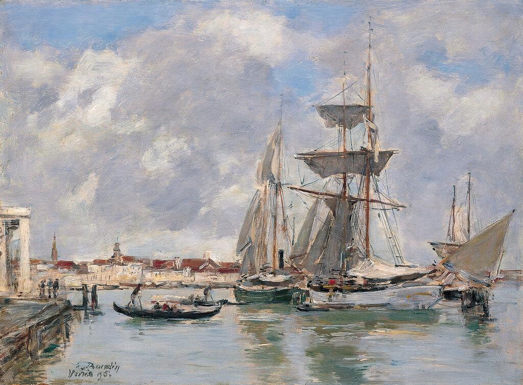 Boudin, Eugene - Венеция, Большой канал, 1895, 26 cm x 35,2 cm, Дерево, масло.jpg