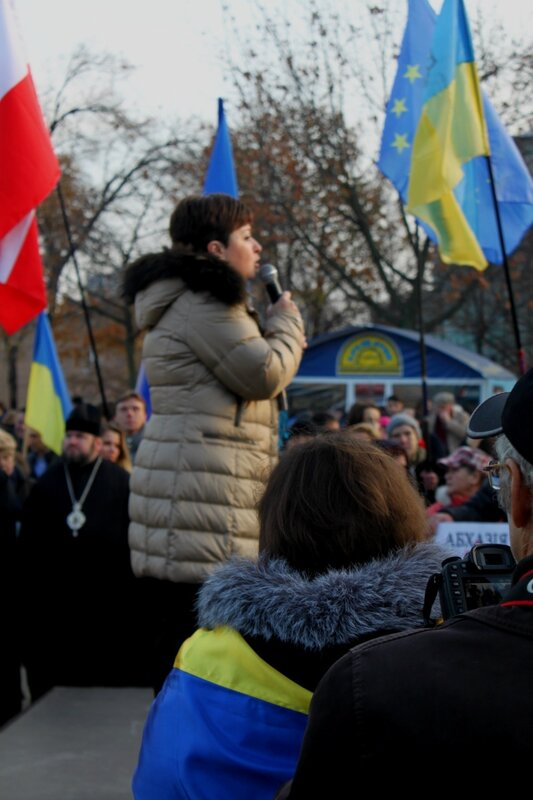 Выступление на митинге от Украины