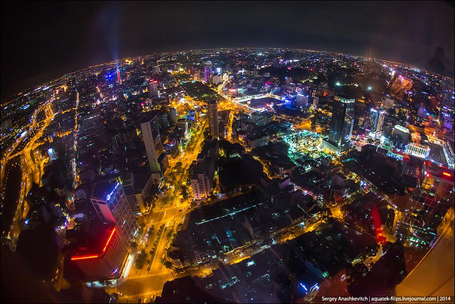 Ночной Сайгон с небоскреба