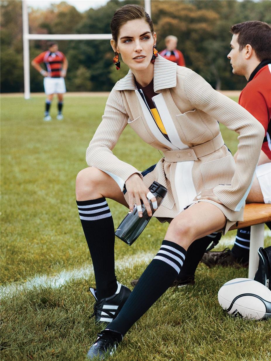 регби и Хилари Рода / Hilary Rhoda by Sebastian Kim in Self Magazine december 2014