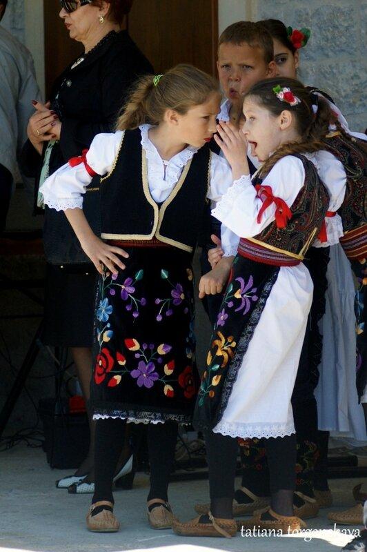 Дети перед выступлением